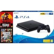 PLAYSTATION Preventa Consola PS4 + Juegos RDR2 y GTA V (1TB - Premium Edition - Negro)