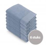 Walra Soft Cotton Baddoek 60x110 Blue - 6 stuks