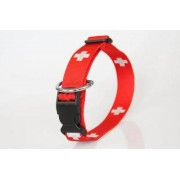 Hundehalsband SWISS Schweizer Kreuz Zugentlastung 30 mm bis 50 cm Umfang