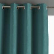 Am.pm Cortinado em linho lavado opaco, ilhós, PrivateVerde Imperial- 140 x 350 cm