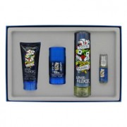 Christian Audigier Love & Luck Eau De Toilette Spray + Hair & Body Wash + Deodorant Stick + Mini EDT Spray Gift Set 461647