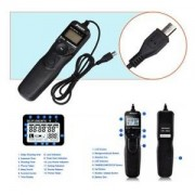 ELECTROPRIME Black LCD Timer Remote Shutter Cord RM-VPR1 for Sony Alpha A7 A7R Cameras