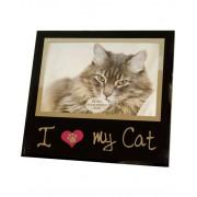 I Love my Cat 17x18 Bildram