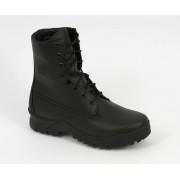 Czarne skórzane Buty wojskowe Hanzel C016