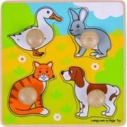 Primul meu puzzle BigJigs animale de companie Multicolor