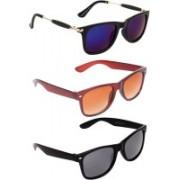 Criba Wayfarer, Retro Square, Retro Square Sunglasses(Multicolor, Brown, Black)