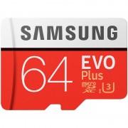 Samsung microSDXC 64 GB EVO Plus mit SD-Adapter, Class 10 / U3