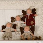 Colgante angelitas vintage Navidad