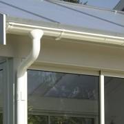 För veranda med pulpettak Takavvattning För pulpettak 18,4 m²