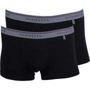 Schiesser Shorts Black Grey (2Pack) - Schwarz XXL