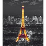 Eiffel Tower In The Night , Photo Murale, 180x202 Cm, 2 Parts - Enfants