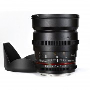 Lente Samyang Canon ED AS UMC VDSLR De 24mm T1.5-Negro