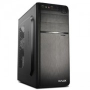 Кутия за компютър Chassis DELUX DLC-DW600 Midi Tower, ATX, USB3.0, without PSU, Black, DLC-DW600/WO_PSU/BLACK