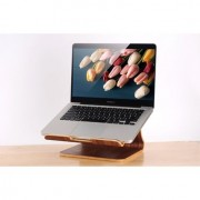 Samdi - Laptop Houder MacBook Pro 15.4 inch Hout Donker Bruin