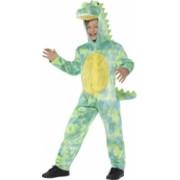Costum de carnaval de dinozaur verde pentru copii 10-12 ani