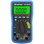 HOLDPEAK 90EPD Digitális multiméter VDC VAC ADC AAC ellenállás kapacitás hőmérséklet frekvencia mobilAPP.