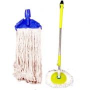 Oanik Home Cleaning Green Mop With Blue Refill
