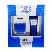 Antonio Banderas Blue Seduction For Men set cadou EDT 100 ml + Balsam dupa barbierit 75 ml pentru bărbați