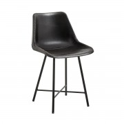 Solhem Stol svart läder leather chair, nordal