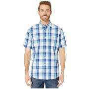 US POLO ASSN Short Sleeve Large Plaid Woven Optic White