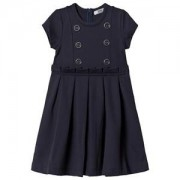 Dr Kid Dr Kid Navy Button Detail Pleated Dress 12 years
