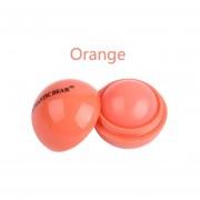 Oso Romántico De Moda En Forma De Bola Cute Lipbalm Hidratante Profundo Sabor A Fruto Duradero Protector Labial Lip Care-barra De Labios Naranja