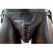 Mister B Posing Pouch One Belt Laced G String Underwear Black 220300