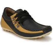 Shoe Rider Men's Black Synthetic Casual Shoes
