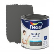 Flexa Strak in de lak voor binnen antraciet grijs zijdeglans 250 ml