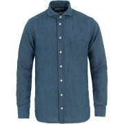 Eton Slim Fit Indigo Shirt Light Blue