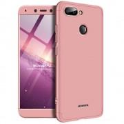 GKK 360 Protection telefon tok hátlap tok Első és hátsó tok telefon tok hátlap az egész testet fedő Xiaomi redmi 6 rózsaszín