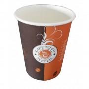 Pahare Cafea din Carton 8 Oz Special (235 ml), 100 Buc/Bax - Ideale pentru Bauturi Calde