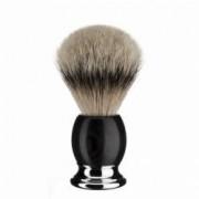 Pamatuf Muehle Silvertip Badger cu par de bursuc si maner African Blackwood 93H85