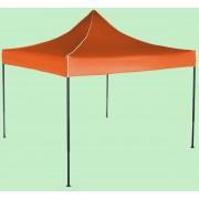 Nůžkový stan 3x3m ocelový, Bez bočních plachet, Oranžová