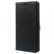 Bolsa Em Pele Para Samsung Galaxy Grand Prime - Género Carteira - Preto