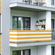 Jarolift Malla de Ocultación para Balcón, Basic, Tejido Transpirable, amarillo-blanco, 500 cm