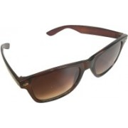 Devizer Optics Retro Square Sunglasses(Brown)