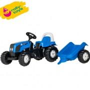 Traktor na pedale sa prikolicom Rolly Kid Landini Powerfarm plavi