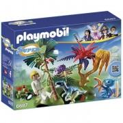 Playmobil super 4 isola perduta con alien e raptor 6687