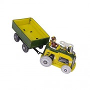 Generic Vintage Tractor and Trailer Collectible Tin toy with Wind-up Key