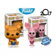 Set 2 Winnie Pooh Y Piglet Funko Pop Caricatura Disney Oso Miel