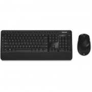 Kit tastatura si mouse Microsoft Wireless Desktop 3050 Black