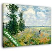 Claude Monet: Pipacsmező Argenteuil-nél (35x25 cm, Vászonkép )
