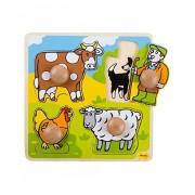 Primul meu puzzle 4 animale domestice, 20 x 20 cm, 12 luni+