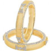 Sukkhi Sublime Gold Plated AD Bangle For Women