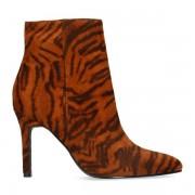 Sacha Tijgerprint enkellaarsjes met naaldhak