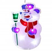 Window silhouette Snowman with LED illumination