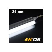 LED fénycső , T5 , 4W , 31 cm , sorolható , hideg fehér