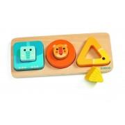 Puzzle incastru din lemn pentru copii, 6 piese, Volubasic, Djeco