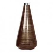 Vaso Cone 42 cm com Alumínio Terra